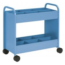 Cart - Everything Cart - 18 D X 36 W X 36 H - 2 Shelf - W/6 Bins Cerulean