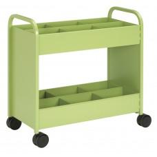 Cart - Everything Cart - 18 D X 36 W X 36 H - 2 Shelf - W/6 Bins Apple