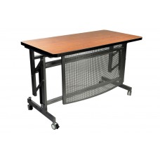 Table - Innovate Series Adj Height Desk - 30 X 30 In Top Size - Epoxy Silver Frame - Specify Top Color