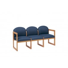 Sofa 3-Seat Upholstered W/Wood Arms And Sled Base Specify Wood Finish Fabric Style And Color Gr2