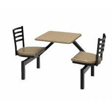 Outdoor Seating - 2 Seats - Anchor - Specify Fiberglass Color - Specify Frame Color
