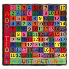 Addition And Subtraction 4' X 4' Square Carpet