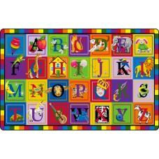 """Abc Blocks 10'9"""" X 13'2"""" Rectangle Carpet"""