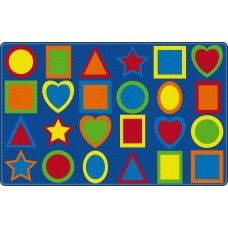 All Kinds Of Shapes Primary (Seats 30) 10'9 X 13'2 Rectangle Carpet