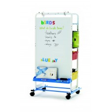 Tech Tub2® Dual Duty Teaching Easel with sync and charge USB hub - holds 12 iPads®