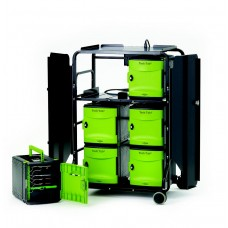 Tech Tub2® Premium Cart with sync and charge USB hub - holds 32 iPads®