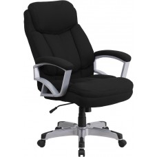 HERCULES Series Big & Tall 500 lb. Rated Black Fabric Executive Swivel Chair with Arms [GO-1850-1-FAB-GG]