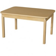 """30"""" x 44"""" Rectangle High Pressure Laminate Table with Hardwood Legs-16"""""""
