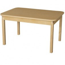 """30"""" x 44"""" Rectangle High Pressure Laminate Table with Hardwood Legs-18"""""""