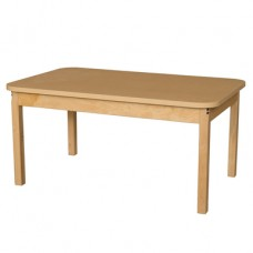 """30"""" x 48"""" Rectangle High Pressure Laminate Table with Hardwood Legs- 20"""""""