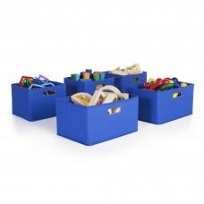 Blue Storage Bins - Set of 5