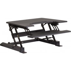 HERCULES Series 28.25''W Black Sit / Stand Height Adjustable Desk with Height Lock Feature and Keyboard Tray [JE-JN-LD02-S-B-GG]