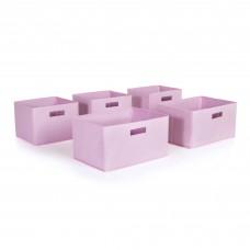Pink Storage Bins - Set of 5