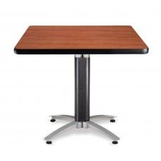 "OFM Square Multi-Purpose Mesh Base Table, 36"", Cherry"