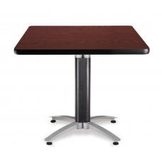 """OFM Square Multi-Purpose Mesh Base Table, 36"""", Mahogany"""