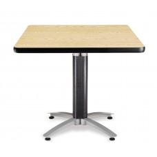 """OFM Square Multi-Purpose Mesh Base Table, 36"""", Oak"""