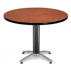 "OFM Round Multi-Purpose Mesh Base Table, 42"", Cherry"