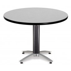 "OFM Round Multi-Purpose Mesh Base Table, 42"", Gray Nebula"