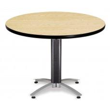 "OFM Round Multi-Purpose Mesh Base Table, 42"", Oak"