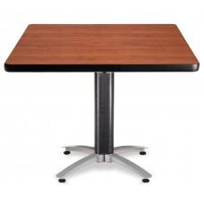 "OFM Square Multi-Purpose Mesh Base Table, 42"", Cherry"