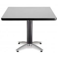 """OFM Square Multi-Purpose Mesh Base Table, 42"""", Gray Nebula"""