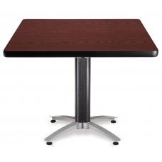 """OFM Square Multi-Purpose Mesh Base Table, 42"""", Mahogany"""