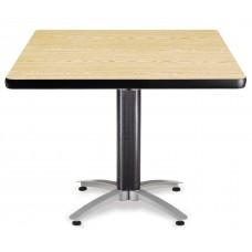 """OFM Square Multi-Purpose Mesh Base Table, 42"""", Oak"""