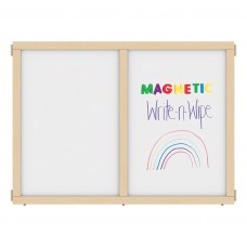 """KYDZ Suite® Panel - A-height - 48"""" Wide - Magnetic Write-n-Wipe"""