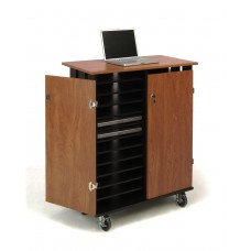 Laptop Charging/Storage Cart (Cherry/Black)