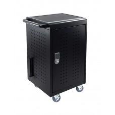 Luxor LLTM30-B-KP 30 Tablet/Chromebooks Charging Cart w/ Programmable Keypad Lock