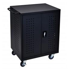Luxor Black 42 Computer Tablet Charging Cart