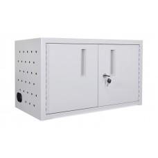Luxor Wall/ Desk Charging Box  16 Tablets/Chromebooks includes a 16 outlet horizontal power strip.