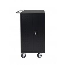 Luxor Black 18 Laptop Computer Charging Cart