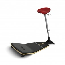 Locus™ Seat by Focal Upright™ - Matte Black (base);Chili Pepper (seat)