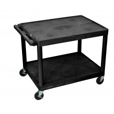 "Luxor 32 x 24 2 Shelf Black Endura Presentation Cart 27""H"