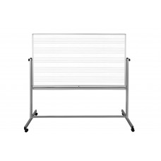 Luxor MB7248MW 72 x 48 Mobile Music Whiteboard/Whiteboard