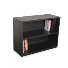Ensemble Two Shelf Bookcase, 36W x 14D x 27H - Dark Neutral