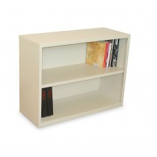 Ensemble Two Shelf Bookcase, 36W x 14D x 27H -Putty Finish