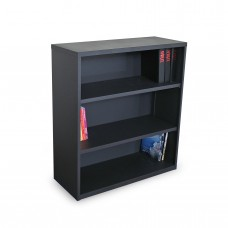 Ensemble Three Shelf Bookcase, 36W x 14D x 27H - Dark Neutral