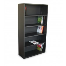 Ensemble Five Shelf Bookcase, 36W x 14D x 27H - Dark Neutral