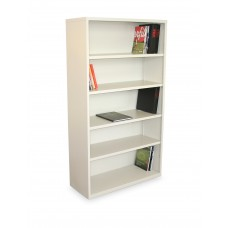 Ensemble Five Shelf Bookcase, 36W x 14D x 27H -Putty Finish