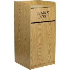 Wood Tray Top Receptacle in Oak [MT-M8520-TRA-OAK-GG]
