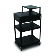 MV2642 Cart with 1 Pull-Out Side-Shelf, Expansion Shelf, and Electrical