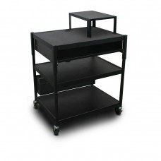 Adjustable Cart with 1 Pull-Out Front-Shelf, Bin, Expansion Shelf, and Electrical