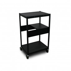 Cart with 1 Pull-Out Side-Shelf and Electrical
