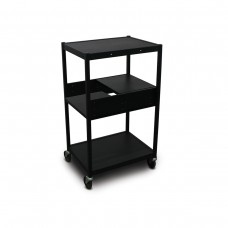 Cart with 2 Pull-Out Side-Shelves and Electrical
