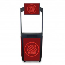 Event Booth with Graphic Frame Marquee Header