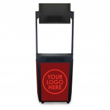 """Event Booth with Flat Panel TV (Up to 32"""") Mount Marquee Header"""