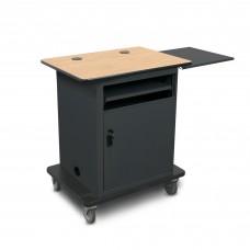 "Marvel Vizion  Instructor Series Teacher Workstation - Bronze, 16""W x 17.5""D Slow Close Shelf, Lockable Door."