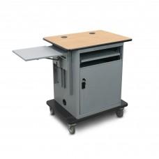"Marvel Vizion  Instructor Series Teacher Workstation - Copper,  14""W x 14.5""D Adjustable Height Side Shelf, Lockable Door."